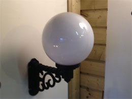 Globe 30cm Wall Light